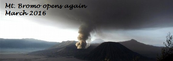 Mt. Bromo is open again to visitors