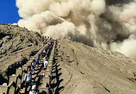 Hike to the top of mount Bromo - East Java